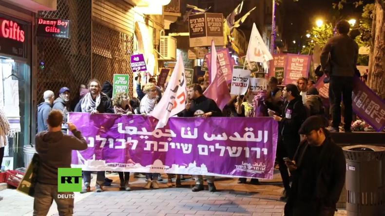 Israel: Proteste in Jerusalem gegen Verlegung der US-Botschaft