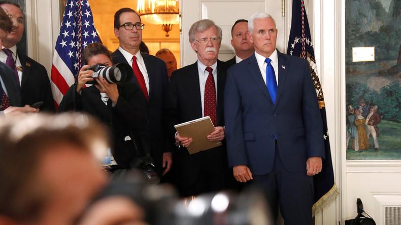Iran-Deal: US-Sicherheitsberater Bolton droht EU-Unternehmen mit Sanktionen