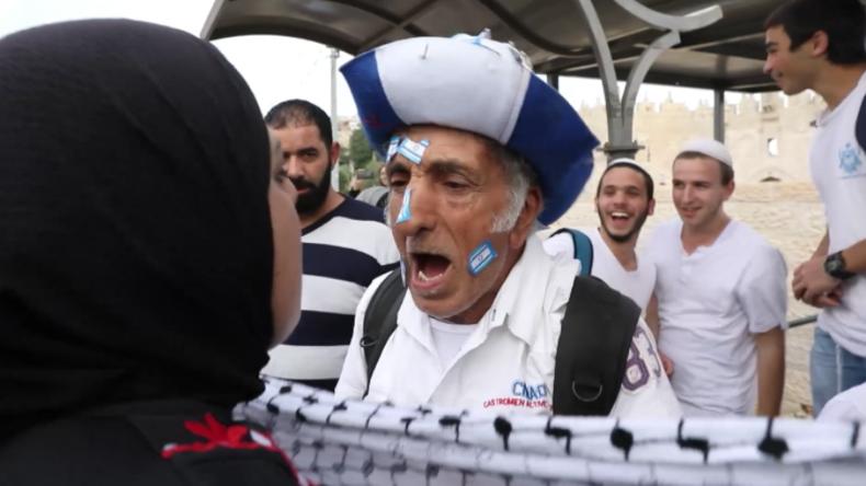 Jerusalem: Pro-israelische und pro-palästinensische Demonstranten treffen aufeinander
