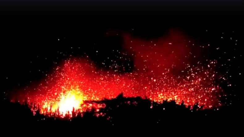 Aliens hinter dem Vulkanausbruch auf Hawaii? UFO-Jäger entdecken mysteriöses Flugobjekt