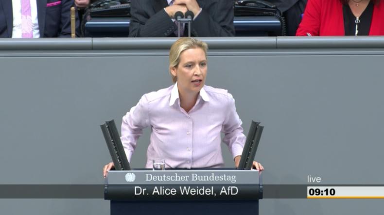 Pfui- und Buhrufe: AfD-Frau Weidel sorgt mit polemischer Rede für Eklat im Bundestag