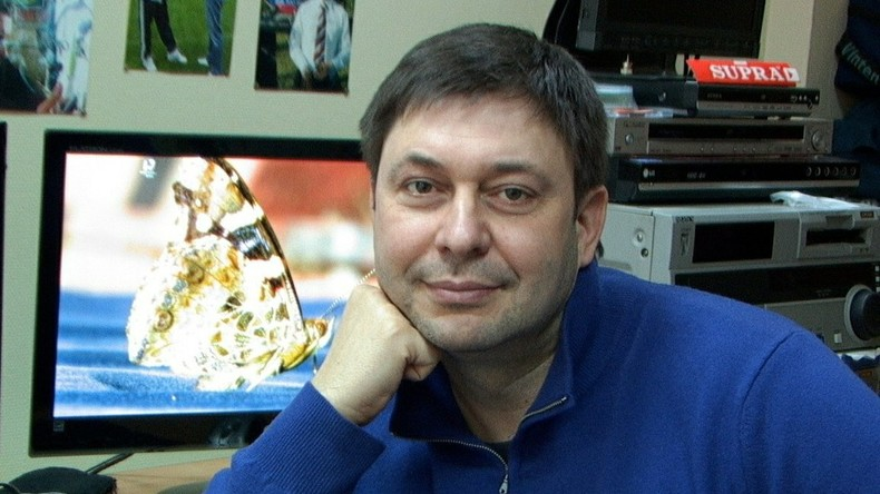 LIVE: Proteste gegen die Festnahme des Leiters von RIA Nowosti Ukraine