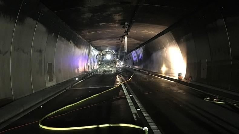 Reparaturen nach Tunnelbrand behindern Schweizer Pfingstverkehr