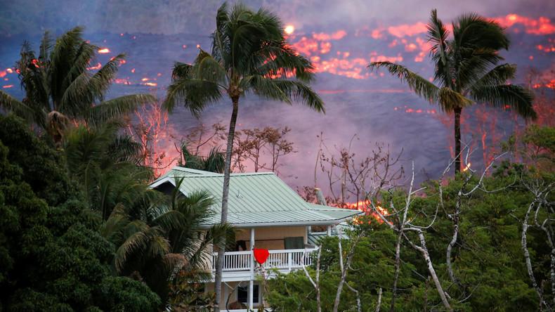 Vorsicht bei Vulkanausbrüchen: Lava-Spritzer verletzen Mann auf Hawaii