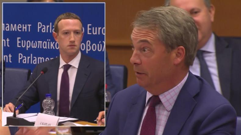 Farage trollt Facebook-Gründer Zuckerberg: Danke für Brexit, Trump und Italiens Wahlergebnis