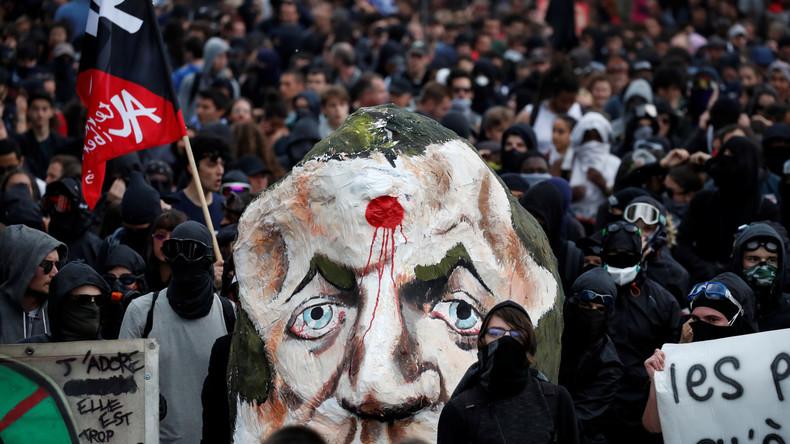 """Protestwelle gegen Macrons Politik """"für die Reichen"""" erschüttert Frankreich"""