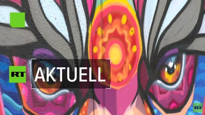 Internationale Graffiti-Künstler in Moskau – Sport und Kunst vereinen sich vor der WM (Video)