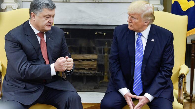 Poroschenko zu Besuch bei Trump: Wurden 400.000 Dollar für ein längeres Treffen bezahlt?