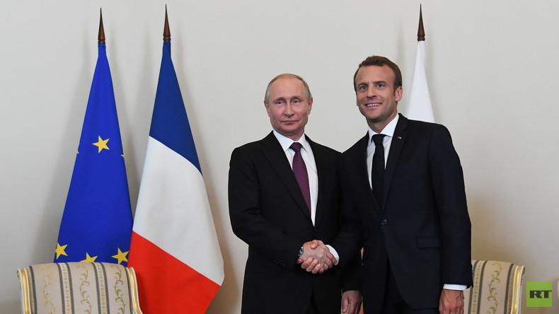 LIVE: Putin und Macron halten Pressekonferenz in Sankt Petersburg