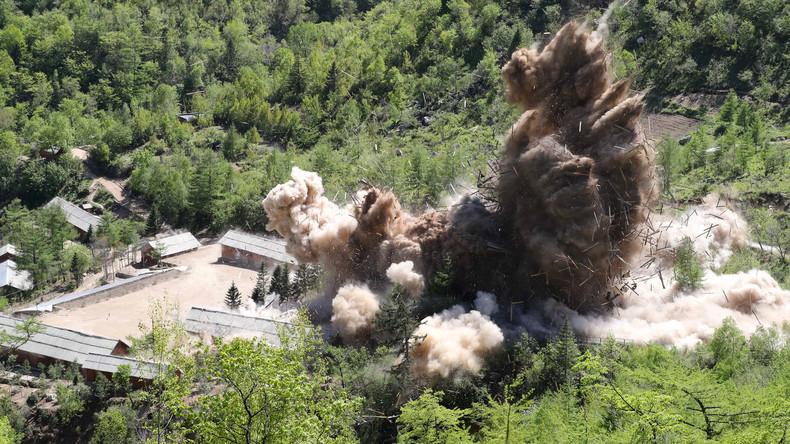 Nordkorea zerstört sein Atomtestgelände (Video)