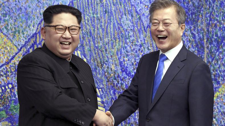 Korea-Konflikt: Ohne Vorankündigung - Kim trifft überraschend auf Moon