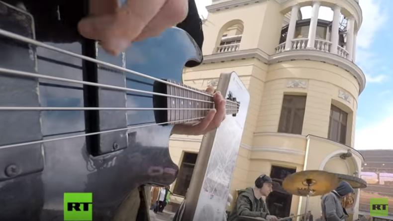 Einmal in Russland: Musik auf und unter Moskaus Straßen