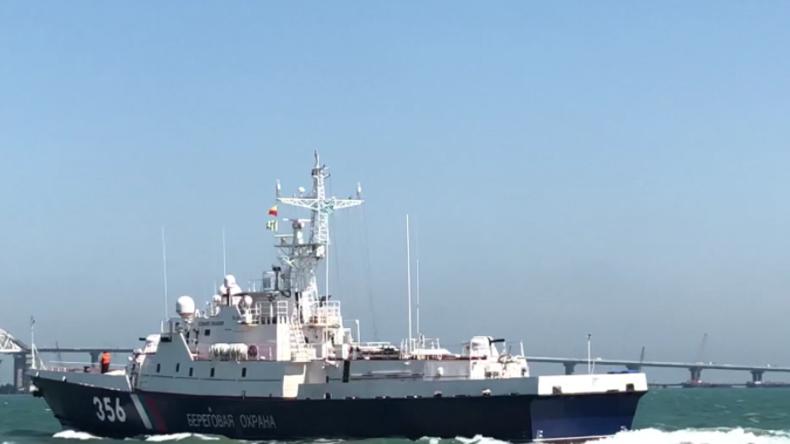 """""""Hier kommt nicht mal ein Gummiboot unentdeckt durch"""" - Russische Marine bewacht Krimbrücke"""
