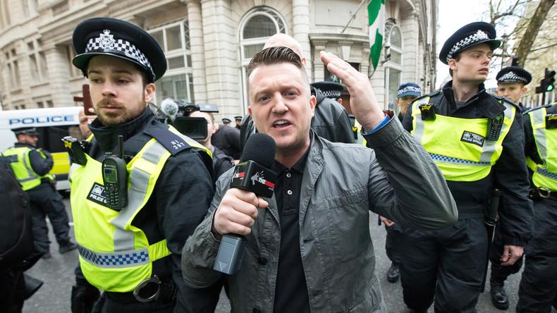 Großbritannien: Proteste gegen Inhaftierung des Journalisten und Aktivisten Tommy Robinson