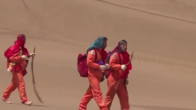 Survival-Training extrem: Chinesische Astronauten trainieren in Wüste Notlandung im All