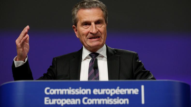 """Pannen-Günther schlägt wieder zu: Oettinger droht italienischen Wählern mit """"den Märkten"""""""