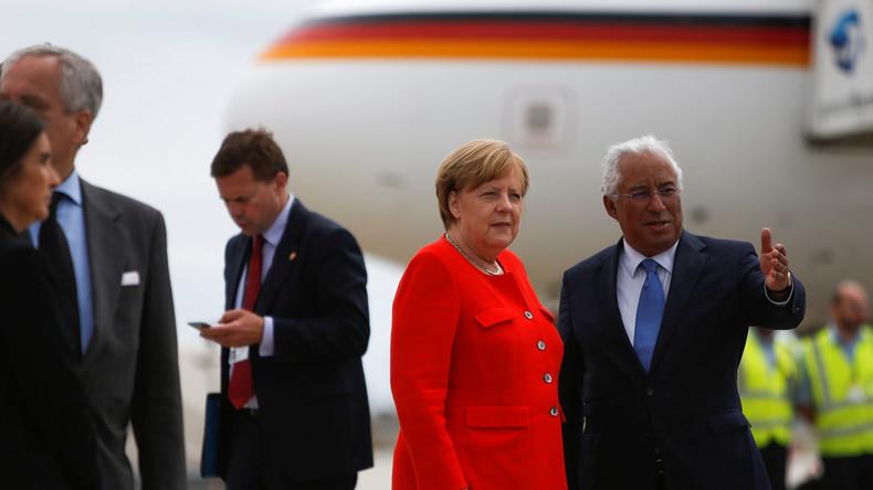 Merkel beginnt Portugal-Besuch mit Einweihung von Technologiezentrum