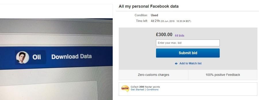"""""""Verkaufe meine Daten - Wer bietet mehr?"""" Brite scheitert bei Auktion seiner Facebook-Daten auf eBay"""