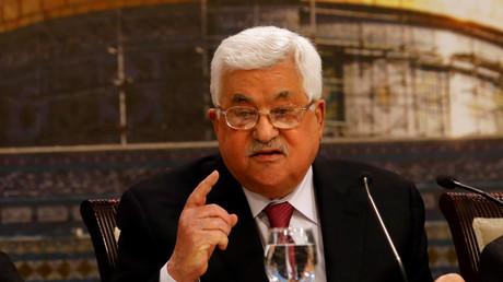 Mahmud Abbas, Ramallah, Palästinensische Autonomiegebiete, 30. April 2018.