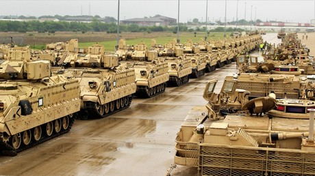 US-Panzer auf dem Weg nach Polen, 29. April 2018