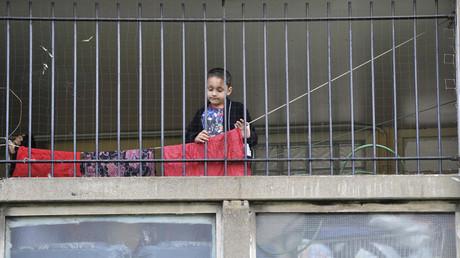 Kind in Ost-London, Großbritannien, 27. März 2010.