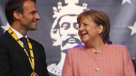 Karlspreis an Frankreichs Präsidenten Macron verliehen