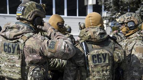 Eine Spezialeinheit des ukrainischen Inlandsgeheimdienst SBU beim Training