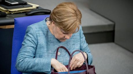 Die Kanzlerin im Bundestag: