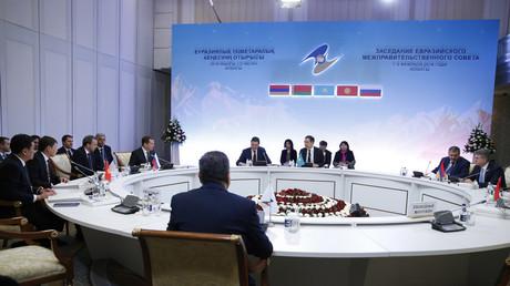 Sitzung der Mitglieder der Eurasischen Wirtschaftsunion (EAWU) in Kasachstan