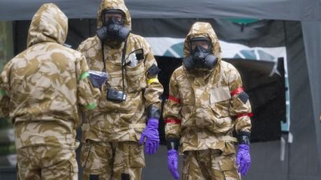 Dekontaminationsarbeiten in Salisbury.