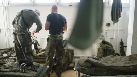 Symbolbild: Soldaten der KSK-Truppe in Trollenhagen, Deutschland, 28. September 2015.