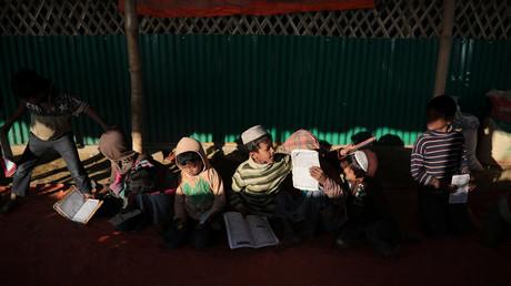 Rohingya-Flüchtlingskinder in einer Koran-Schule im Flüchtlingscamp Cox Bazar, Bangladesch, 22. Januar 2018.