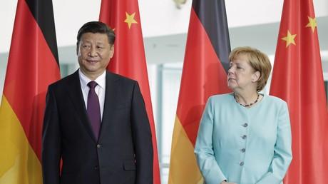 Bundeskanzlerin Angela Merkel ist zu Gast in China und trifft sich dort am Donnerstag mit Präsident Xi Jinping