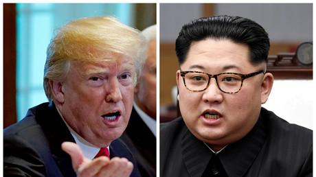 Nach der Absage des Gipfels machte US-Präsident Donald Trump (l.) deutlich, dass die US-Streitkräfte bereitstünden, sollte es nun militärische Aggressionen vonseiten Nordkoreas geben oder das Land