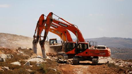 Symbolbild: Baubeginn der Siedlung Amichai im Westjordanland, 20. Juni 2017.
