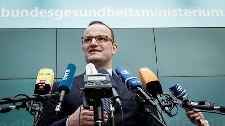 Bundesgesundheitsminister Jens Spahn (CDU) gibt eine Pressekonferenz am 23. Mai in Berlin.
