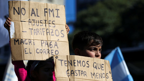 Protest gegen Verhandlungen mit IWF in Argentinien