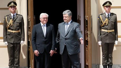 Frank-Walter Steinmeier und Petro Poroschenko in Kiew, Ukraine, 29. Mai 2018.