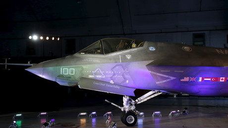 Lockheed Martin F-35 in der Patuxent River Naval Air Station in Maryland, 28. Oktober 2015.