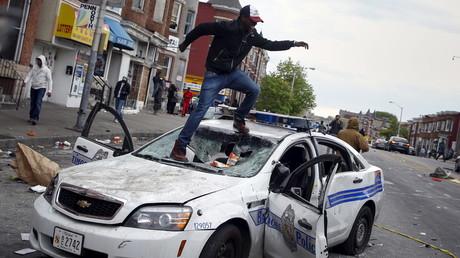 Proteste nach dem Tod von Freddie Gray in Baltimore im Jahr 2015