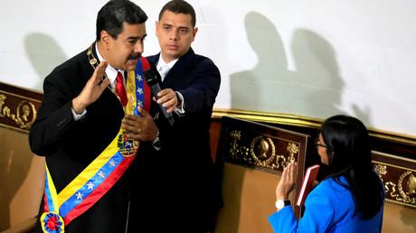 Caracas, 24. Mai: Nicolás Maduro bei seiner Vereidigung zur nächsten Amtszeit als Präsident Venezuelas.