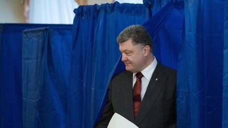Petro Poroschenko bei den ukrainischen Kommunalwahlen 2015