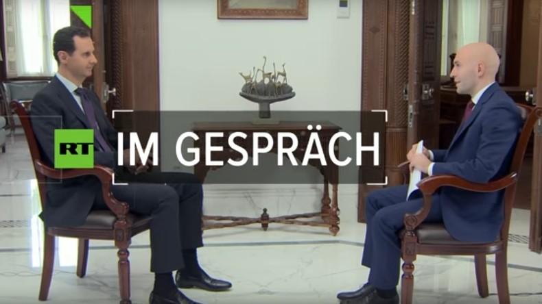 """Exklusiv-Interview mit Assad: """"Direkter Konflikt zwischen Russland und USA stand kurz bevor"""" (Video)"""