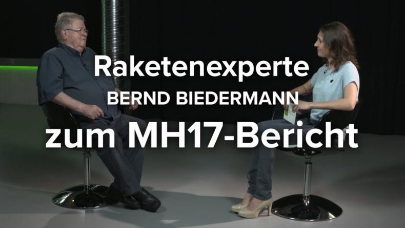 """Bernd Biedermann zum MH17-Bericht: """"Die Beweise sind absurd!""""  (Video)"""