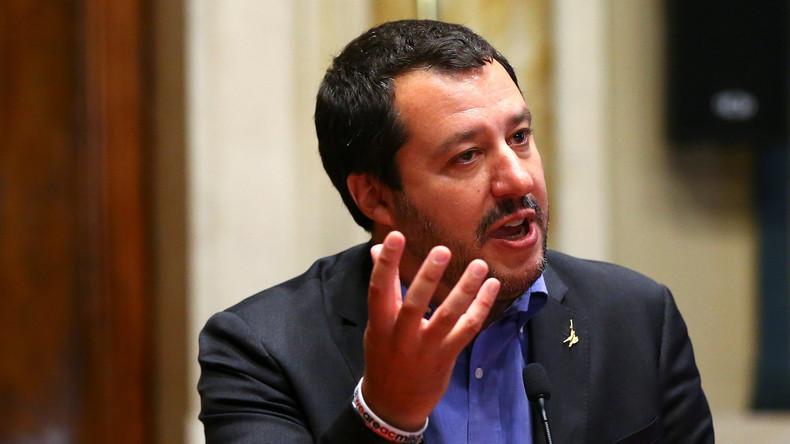 """Italiens Innenminister Matteo Salvini nennt Flüchtlingsretter """"Vize-Schmuggler"""""""