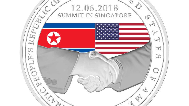 Singapur gibt eigene Gedenkmünzen zum Treffen Trump-Kim heraus