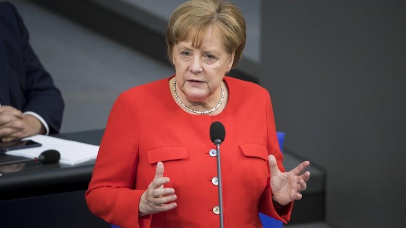 """Kanzlerin Merkel verteidigt ihre Flüchtlingspolitik: 2015 war eine """"humanitäre Ausnahmesituation"""""""