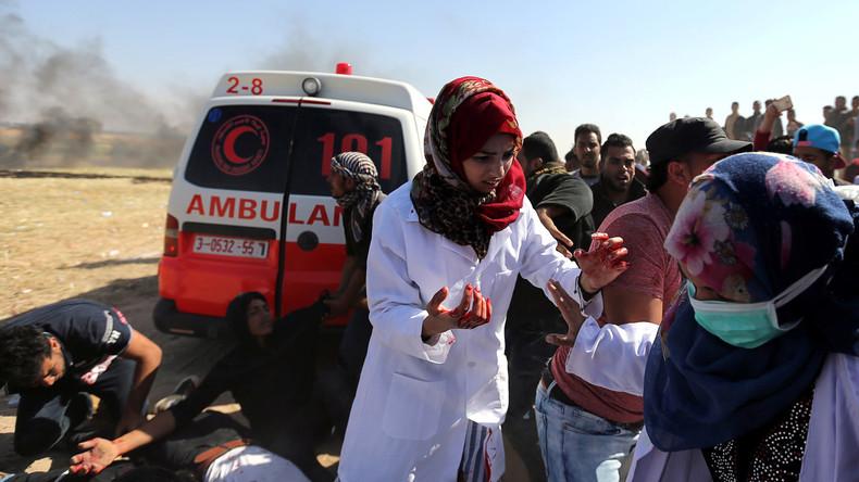 Video bringt Engel von Gaza zu Fall: Getötete Krankenschwester soll Gaskanister geworfen haben