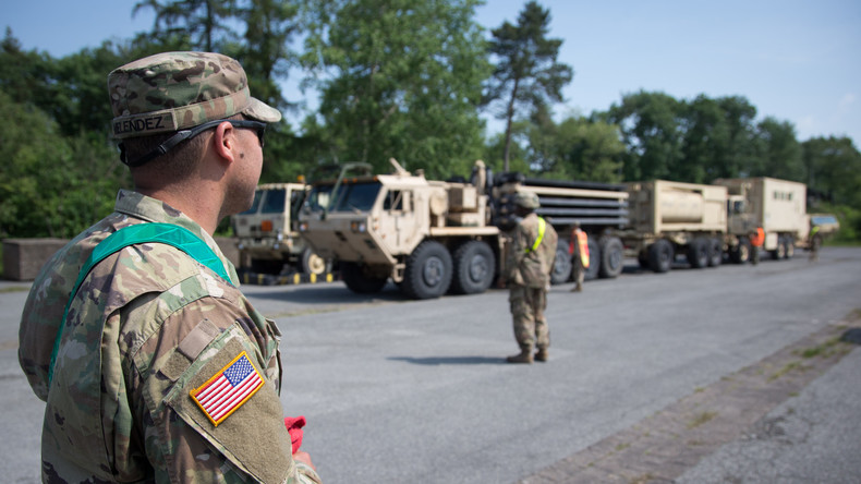 US-Truppenkonvoi passiert Brandenburg