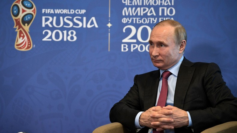 """""""Willkommen zur FIFA-Weltmeisterschaft!"""" - Putin begrüßt Fans und Nationalmannschaften (Video)"""